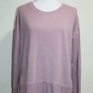 Athleta Lavender Sweatshirt thumbhole Tunic Small
